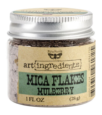 Art Ingredients Mica Flakes 1oz-Mulberry