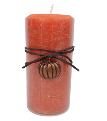 Fall Into Color 3''x6'' Pillar Candle-Orange