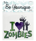 Cousin® DIY Be Younique Iron-On Transfer-I Love Zombies