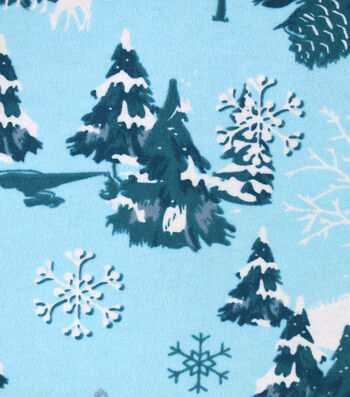 "Snuggle Flannel Fabric 42""-Icy Winter Wonderland"