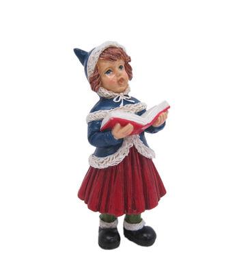 Maker's Holiday Christmas Littles Resin Girl Caroler