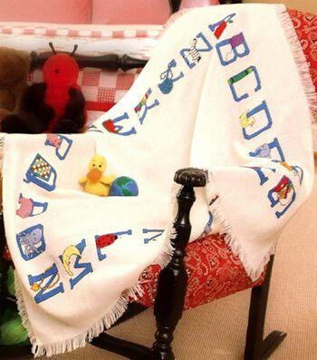 Charles Craft Baby Afghan Cloth Alphabet