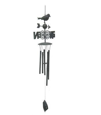 Wild Blooms Metal Directional Wind Chime-Black