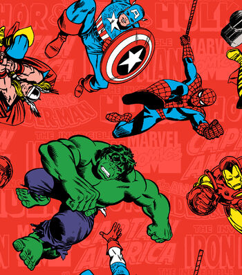 "Marvel Comics™ Flannel Fabric 42""-Retro Comic"