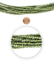Blue Moon Bead Strands Seed Bead Hank size 6/o Moss Green, , hi-res