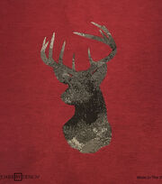 Square By Design® Woven Fabric 25''-Deer Head on Red, , hi-res