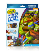 Crayola® Color Wonder Teenage Mutant Ninja Turtles® Metallic Coloring Pages&Markers, , hi-res