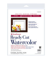 "Strathmore Watercolor Paper 11""X14""-140lb 6 Sheets Hot Pressed, , hi-res"