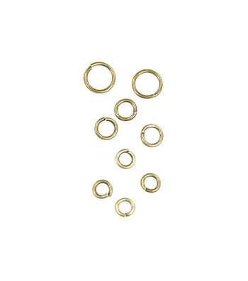 Blue Moon Findings Jump Ring Metal 5, 6 & 8mm Oxidized Brass