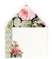 Anna Griffin Grace Blk Floral Corr Card, , hi-res