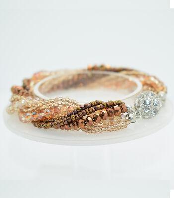 Crystal Multi Strand Bracelet-Copper