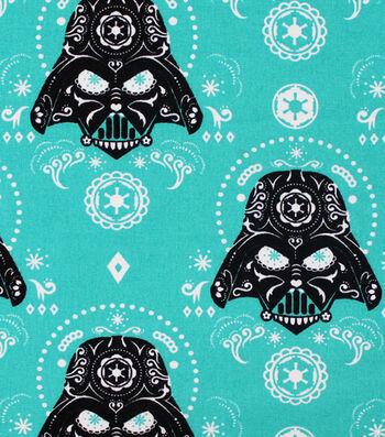 """Star Wars™ Cotton Fabric 44""""-Darth Vaders Sugar Skulls"""