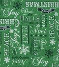 Christmas Cotton Fabric 43\u0022-Holiday Words