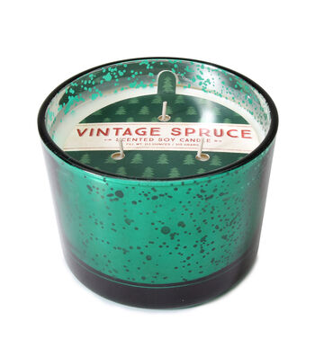 Maker's Holiday Christmas 3-wick Scented Mercury Candle-Vintage Spruce