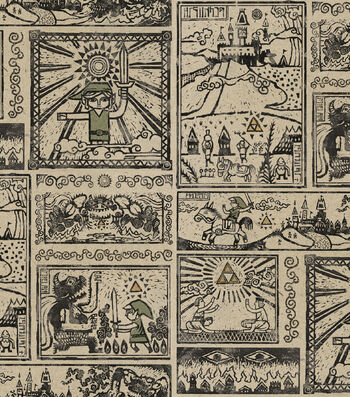 "Nintendo® The Legend of Zelda Cotton Fabric 43""-Comic"