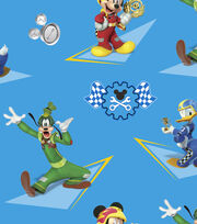 Disney® Mickey Mouse Cotton Fabric-Mickey & Friends Racing Stars, , hi-res