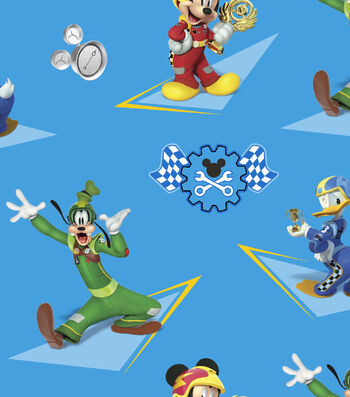 Disney® Mickey Mouse Cotton Fabric-Mickey & Friends Racing Stars