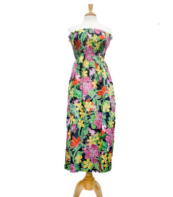 "Style In An Instant 45"" Shirred Dress Tropical Pink"