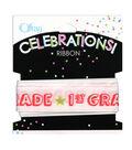 Offray Celebrations Ribbon 7/8\u0022 x 9\u0027- School