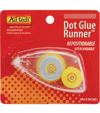 "Ad Tech 1/4""x196"" Glue Dot Runner-1PK/Repositional"