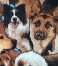 Anti-Pill Fleece Fabric 59\u0022-Dog Collage