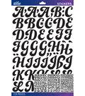 Sticko - Black Funkydori Large Alphabet Stickers