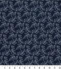 Quilter\u0027s Showcase™ Cotton Fabric 44\u0022-Navy Leaf