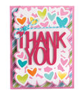 Sizzix Framelits 4 Pack Dies-Thank You Drop-Ins Card
