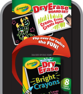 Crayola Dual-Sided Dry-Erase Board Set