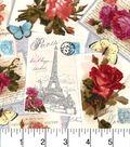 Buttercream™ Cosette Cotton Fabric 43\u0022-Paris Postcard