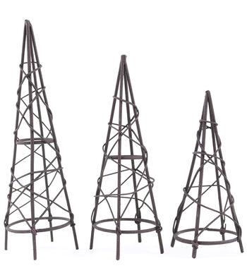 Midwest Design Mini Garden Rustic Obelisk Assortment