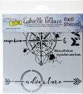 Crafter\u0027s Workshop Gabrielle Pollacco Template 6\u0027\u0027x6\u0027\u0027-Wanderlust