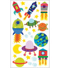 Sticko Sparkler Classic Stickers-Solar System N Rocket Ship