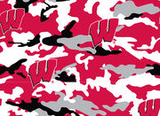 "University of Wisconsin Badgers Fleece Fabric 58""-Camo, , hi-res"