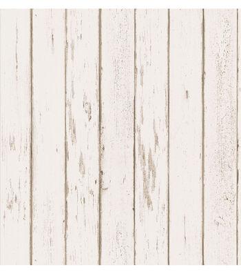Yarmouth Cream Rustic Wood Paneling Wallpaper
