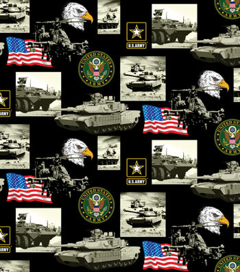 "United States Army Cotton Fabric 43""-Allover"