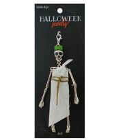 hildie & jo™ Halloween Toga Skeleton Doll Silver Pendant, , hi-res