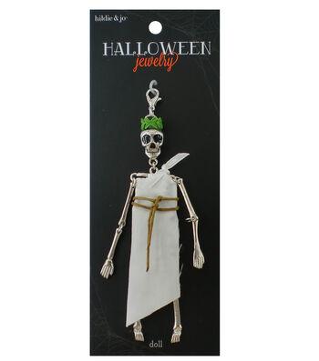 hildie & jo™ Halloween Toga Skeleton Doll Silver Pendant
