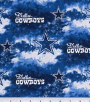 Dallas Cowboys Cotton Fabric 58''-Logo, , hi-res