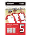 3-Inch White Number Team Pack Transfers