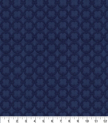 Waverly Upholstery Fabric 54''-Navy Full Circle