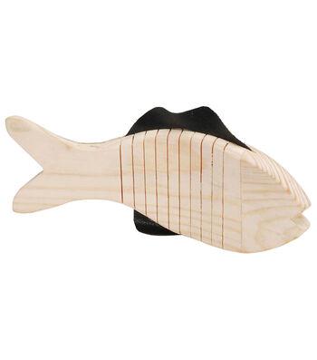 """Darice Wood Wiggle Animal-Fish 6-1/2""""X3"""""""