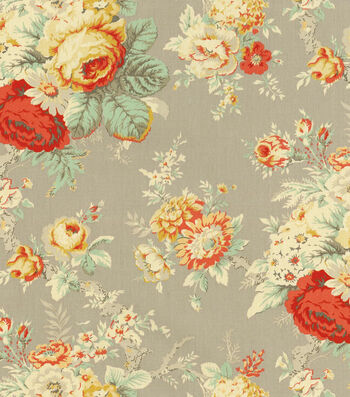 "Waverly Upholstery Fabric 54""-Sanctuary Rose Clay"