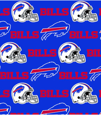 "Buffalo Bills Cotton Fabric 58""-Blue"