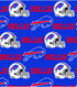 Buffalo Bills Cotton Fabric 58\u0022-Blue