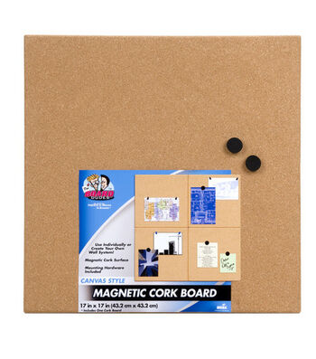 Unframed Magnetic Cork Board 17X17