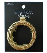 hildie & jo™ Effortless Charm Open Circle Gold Pendant, , hi-res
