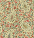 Waverly Upholstery Fabric 54\u0022-Paisley Verveine/Bayberry