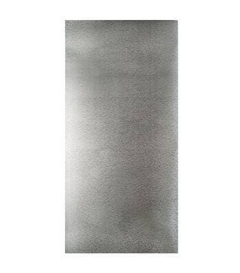 "Galvanized Steel Sheet 12""X24""-Silver"