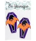 Cousin® DIY Be Younique 2 Pack Appliques-Coffin Bats Patches